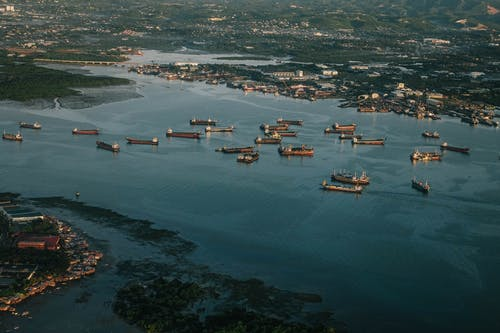 Aerial Photography of Ships on Body of Water
