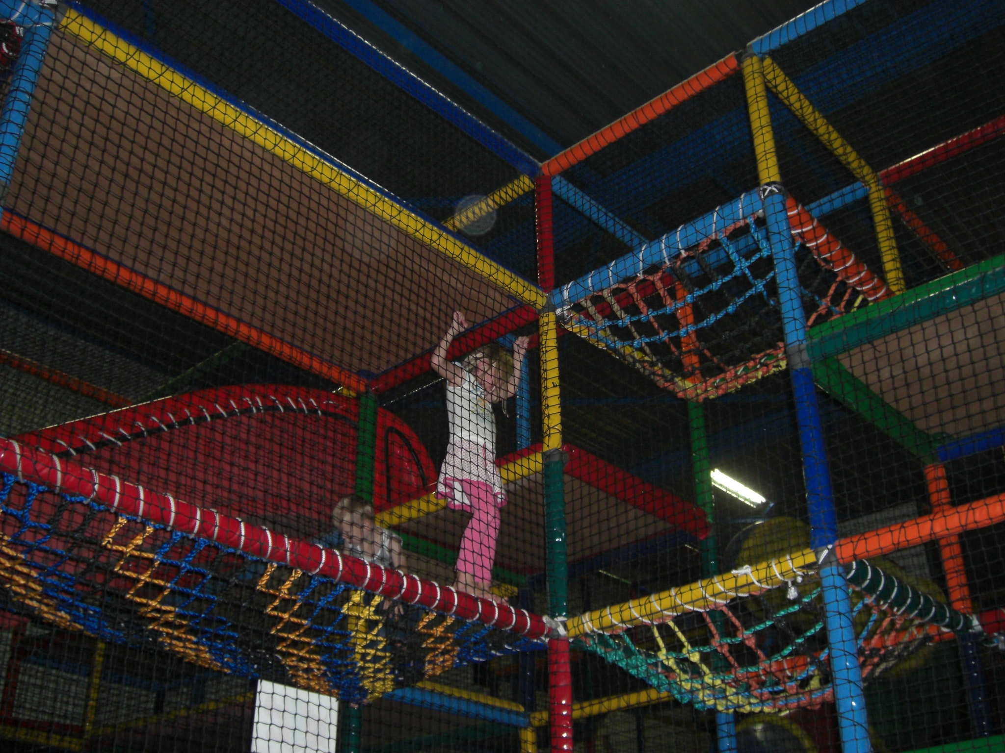 A girl playing in BOUNCE Dubai