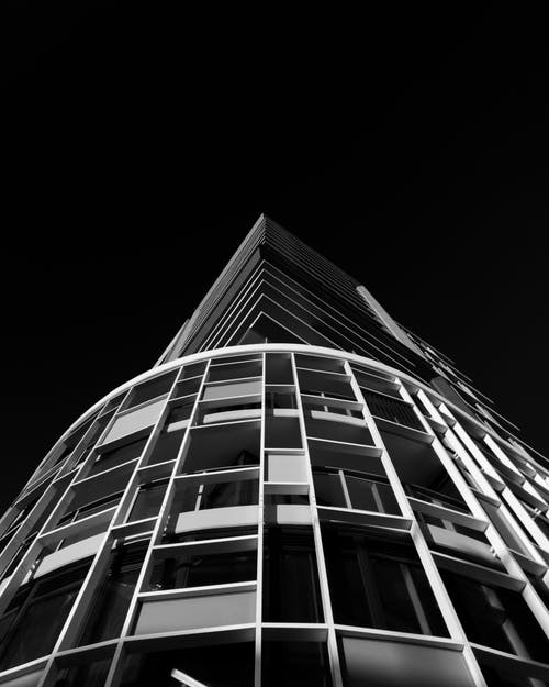 Free stock photo of apartment buildings, architectural building, black and white