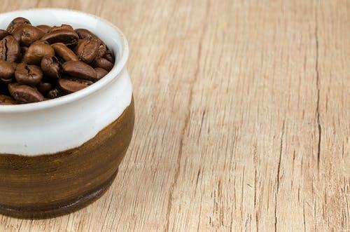 カップ, カフェイン, コーヒー豆, テクスチャの無料の写真素材