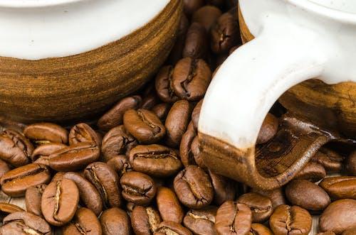カフェイン, コーヒー豆, テクスチャ, マグカップの無料の写真素材