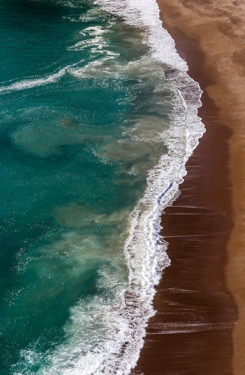 ακτή, άμμος, αφρός