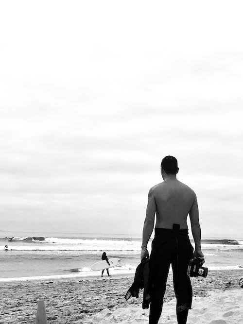 경치, 남자, 모래의 무료 스톡 사진