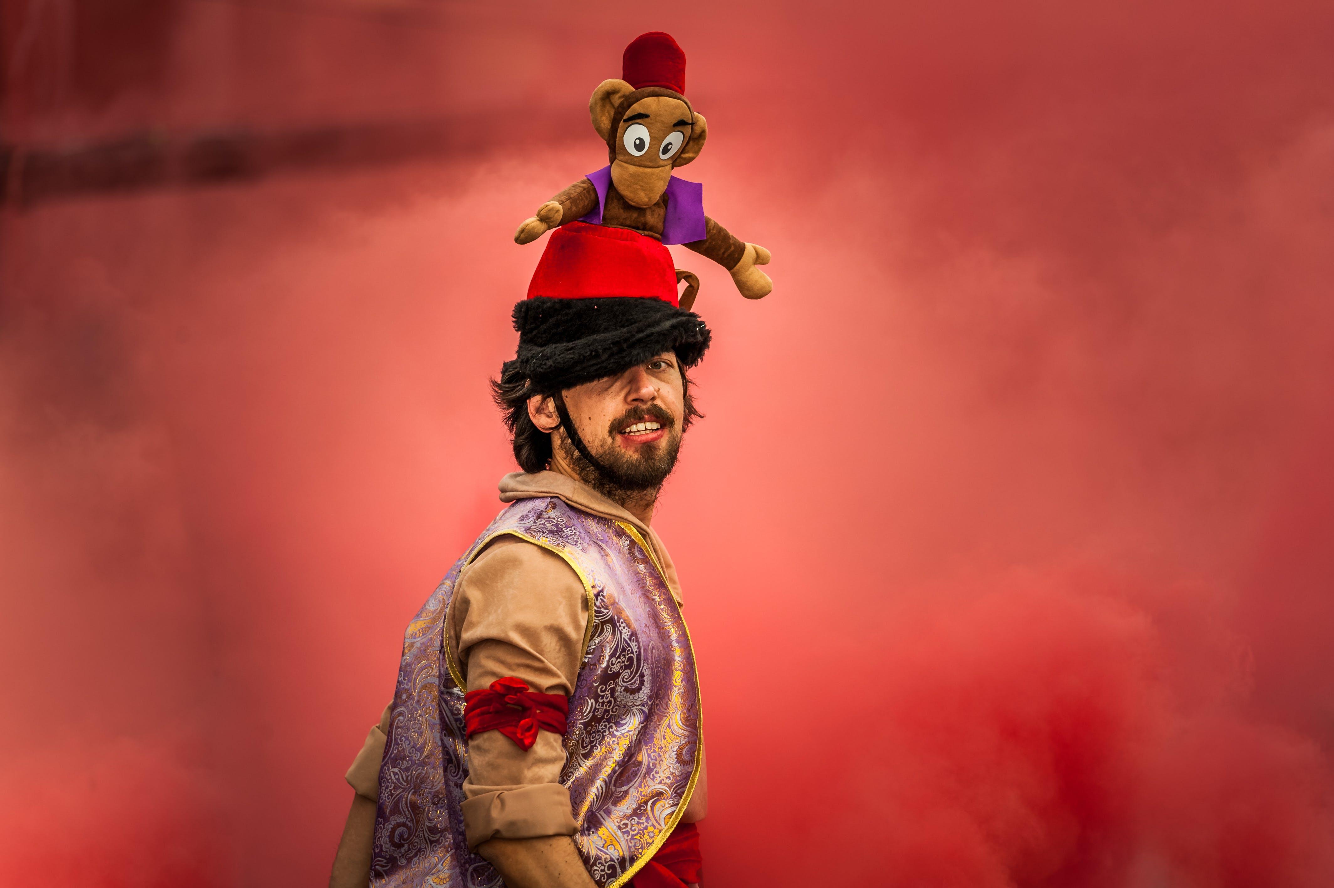 Man Wearing Aladdin Costume