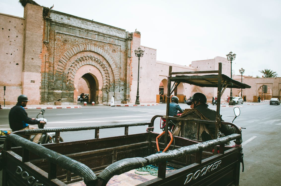 Person Riding Auto Rickshaw