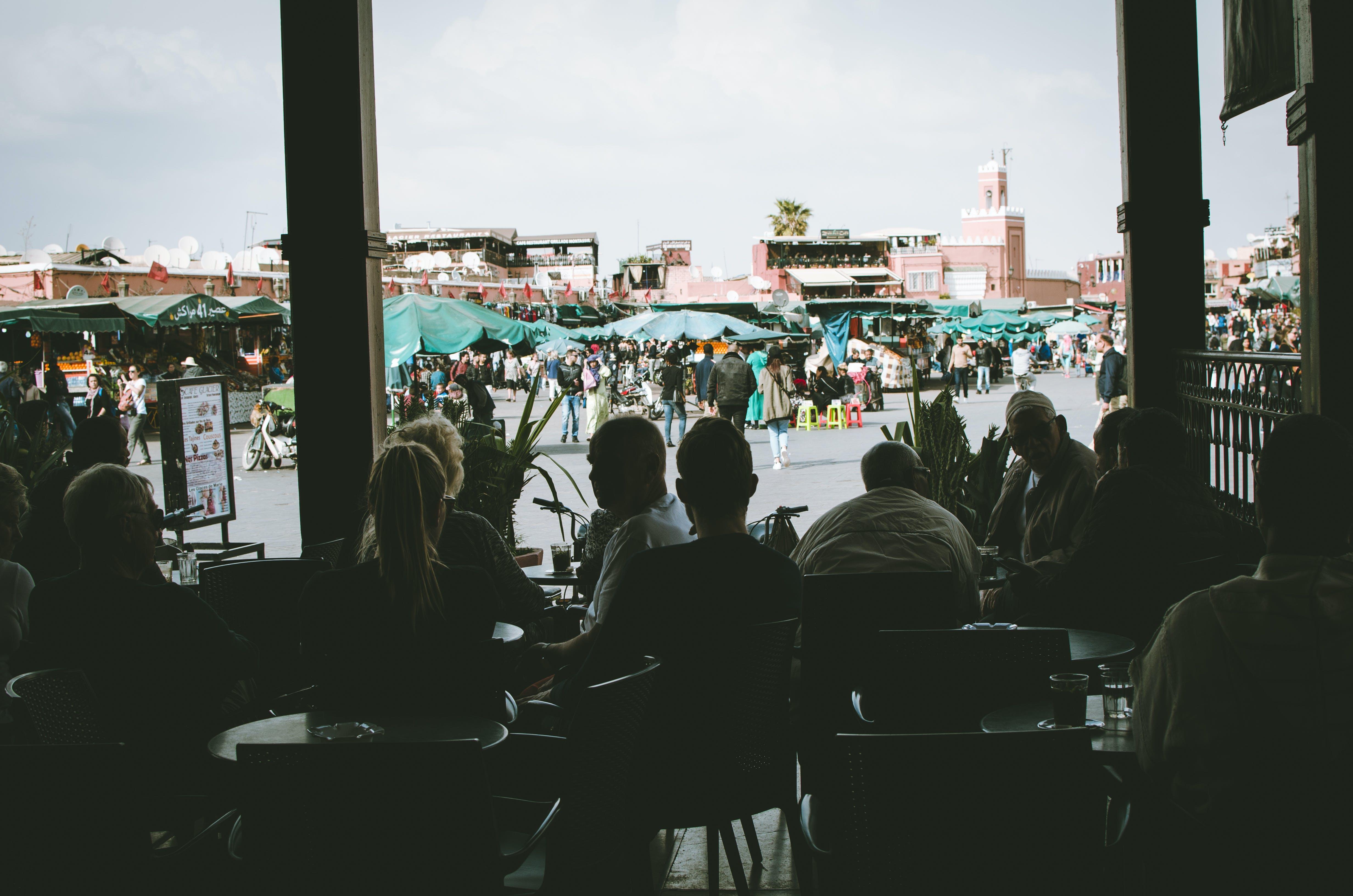 シティ, モロッコ, レストラン, 一緒になるの無料の写真素材