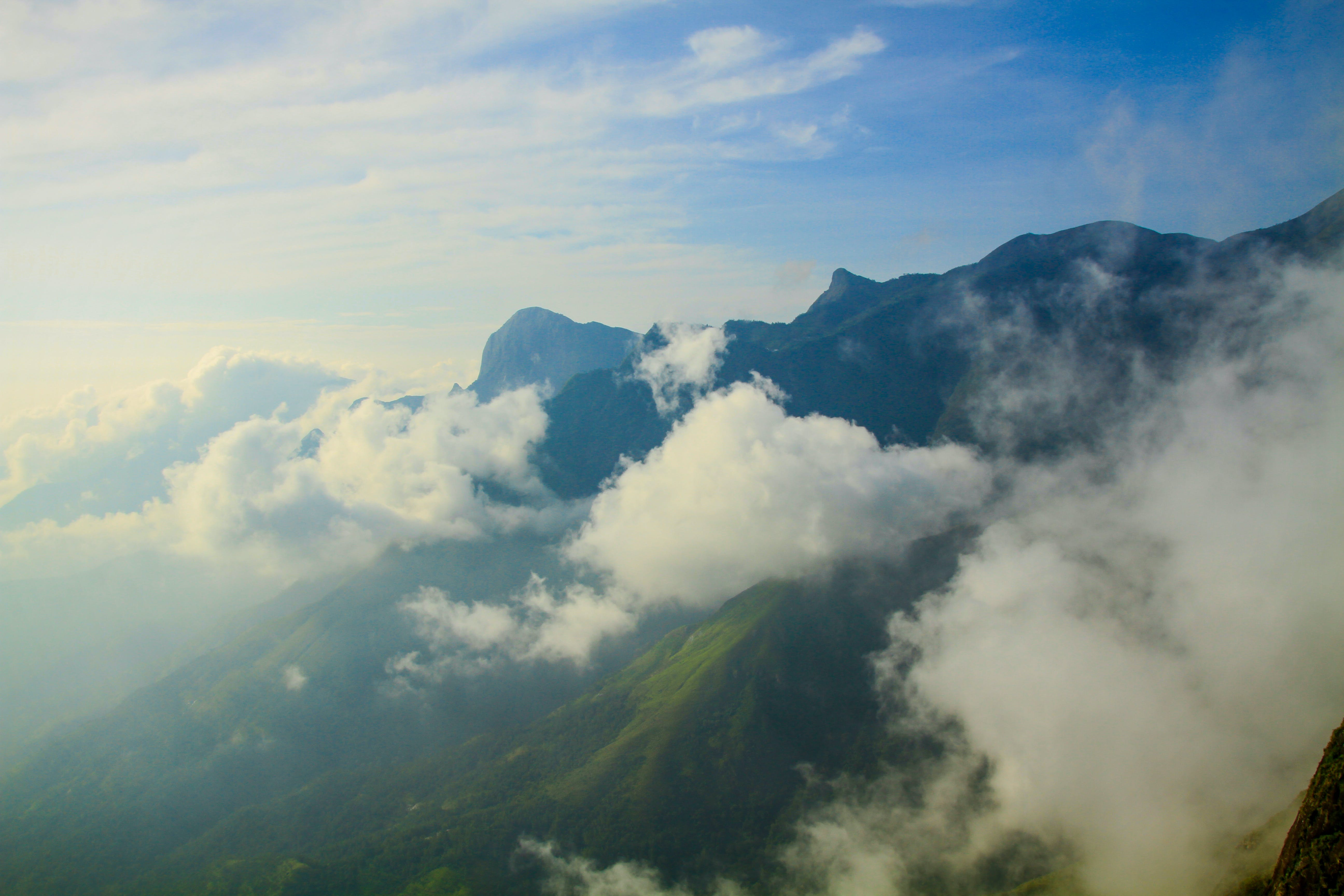 Free stock photo of above the cloud, asia, blue, cloud