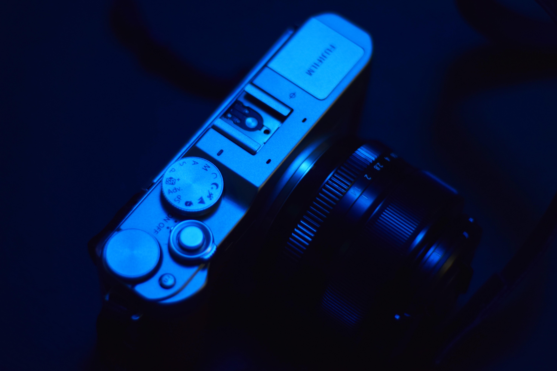 Black and Grey Slr Camera