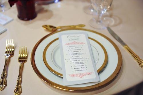 Ingyenes stockfotó esküvői menü, étkező szett, tánc témában