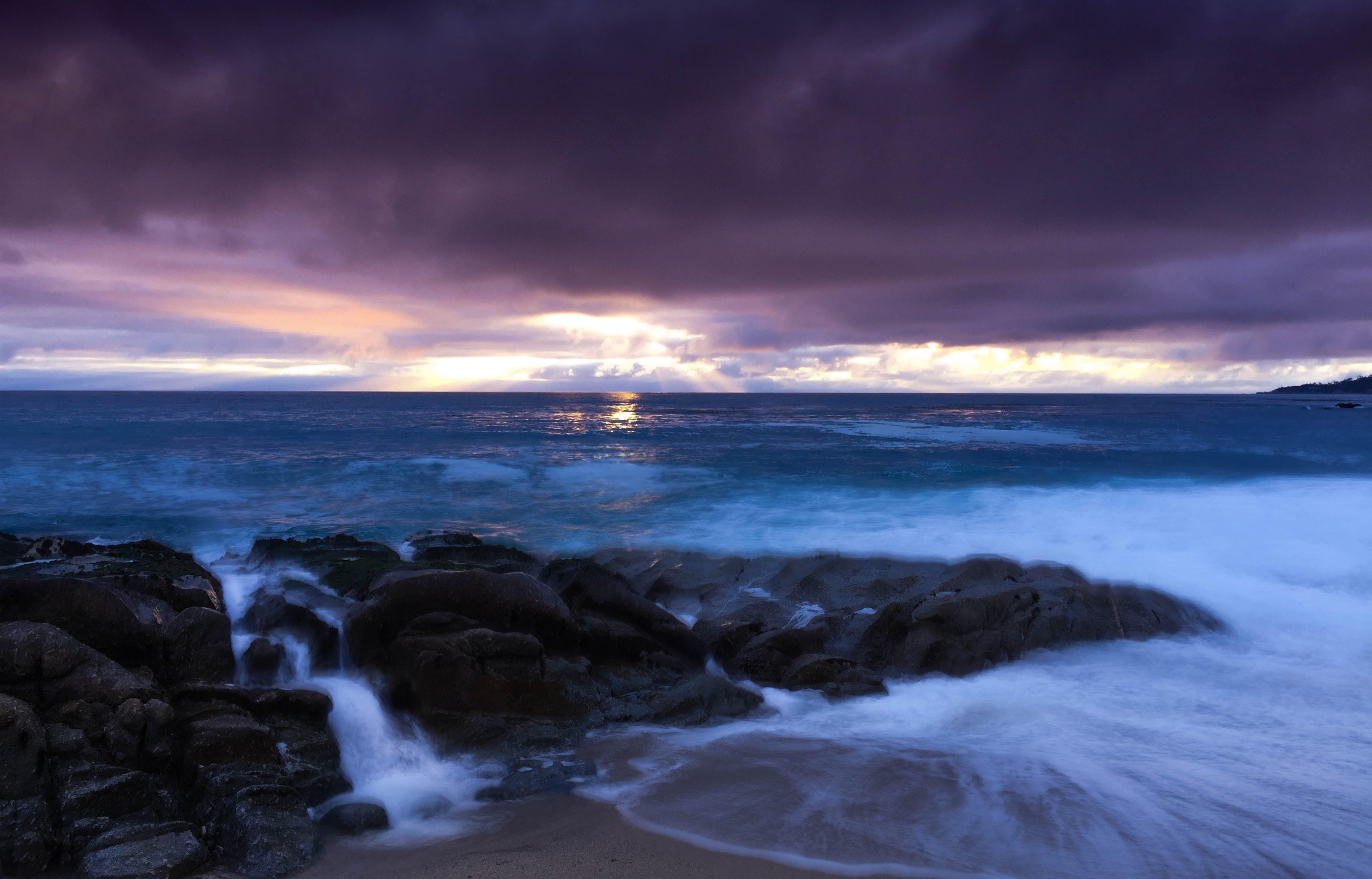 Kostenloses Stock Foto zu felsen, himmel, horizont, meer