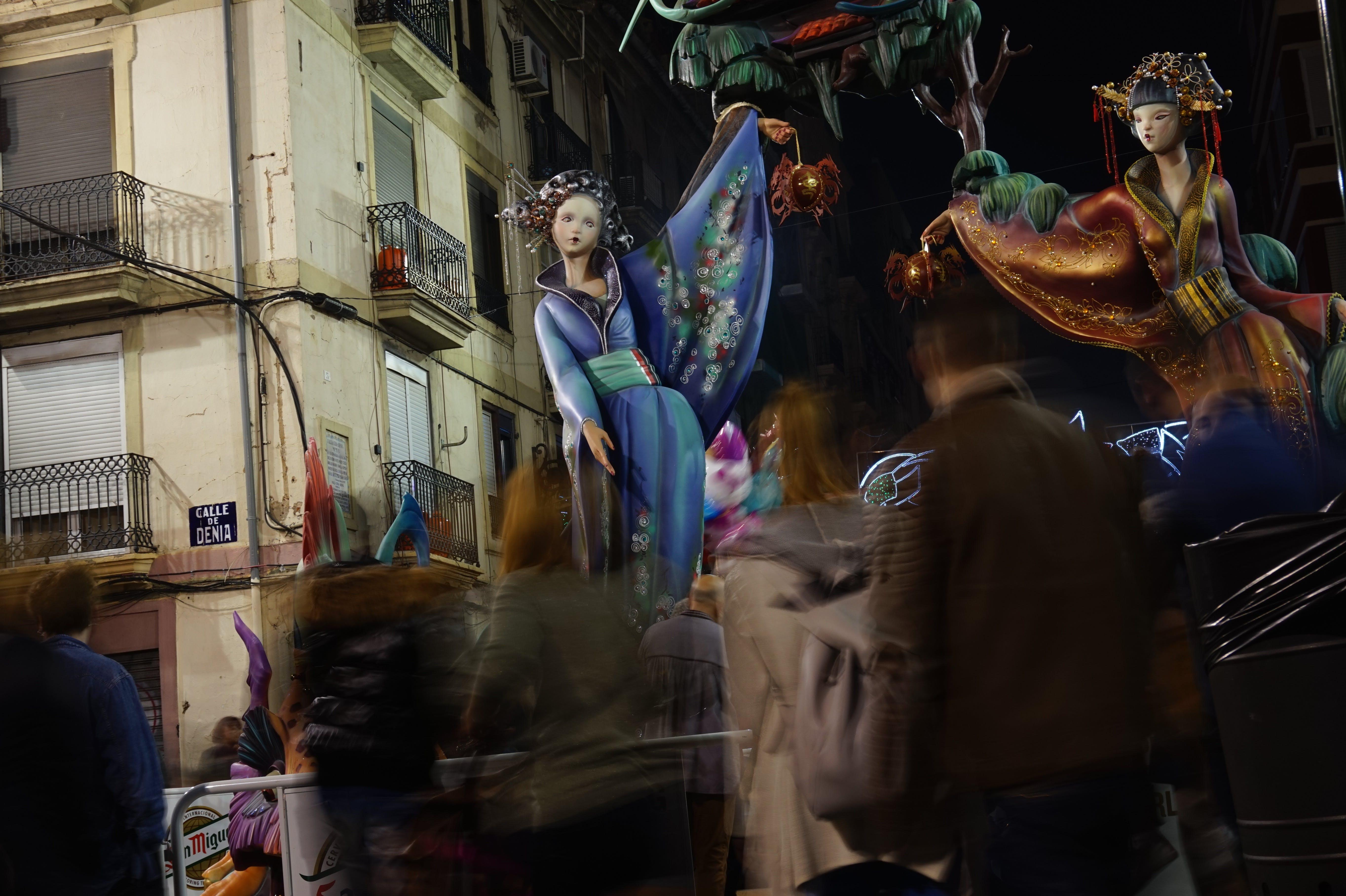 Free stock photo of night, festival, statue, spain