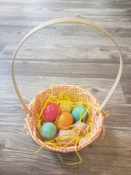 Free stock photo of basket, easter eggs