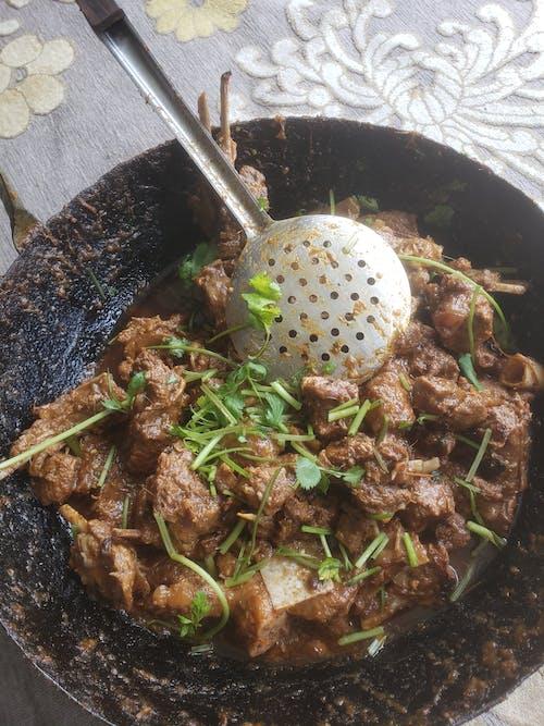 Free stock photo of beef, karahi, karrahi