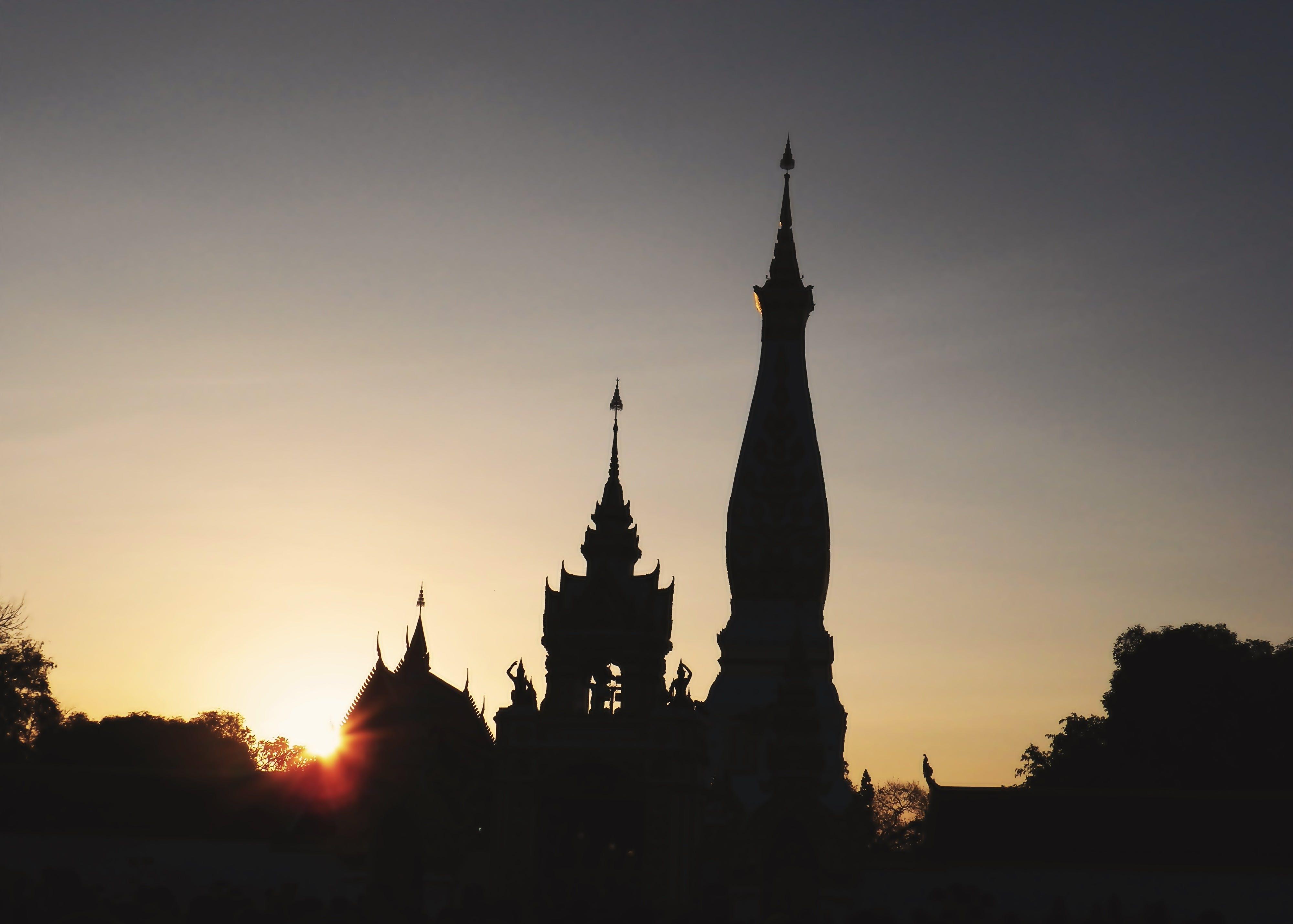 Free stock photo of monastery, Wat Phra That Phanom