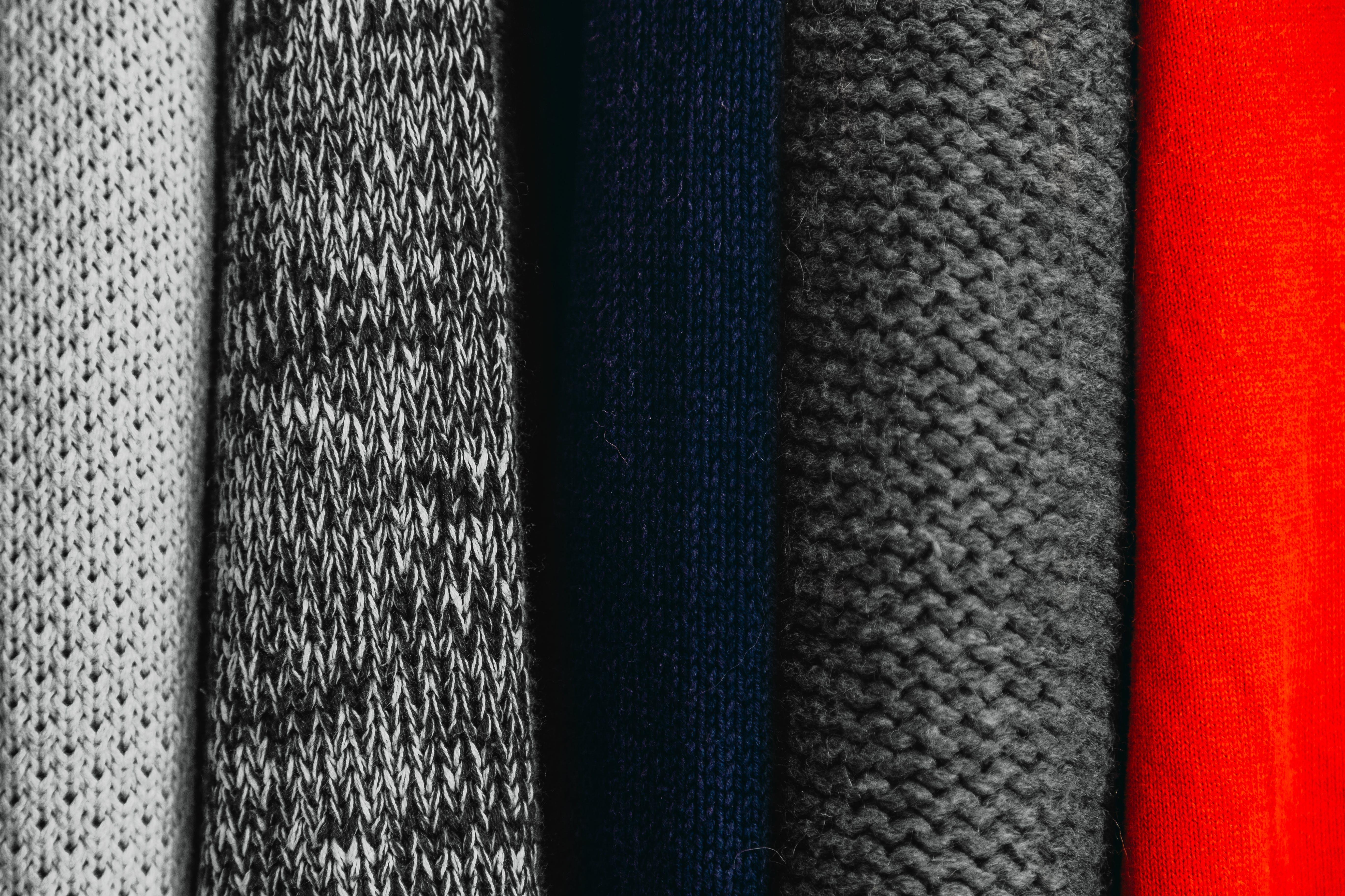 Assorted-color Knit Textiles