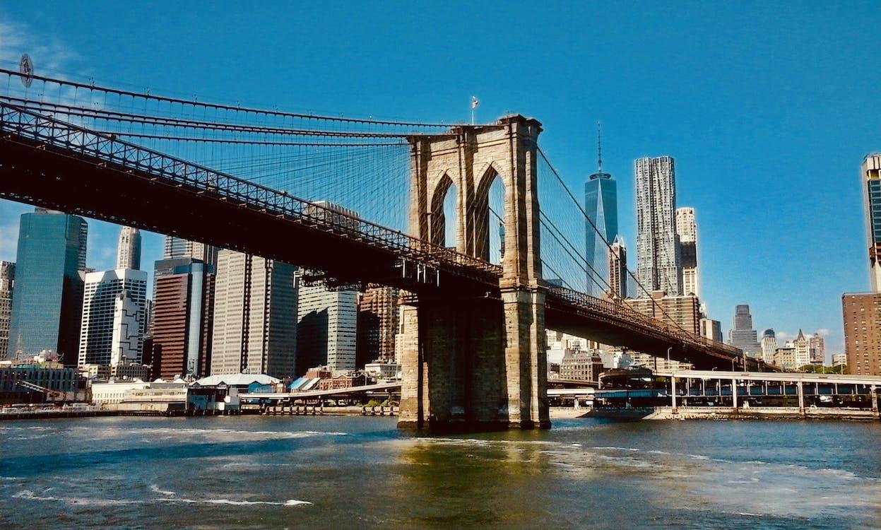 arkkitehtuuri, brooklyn bridge, kaupunki