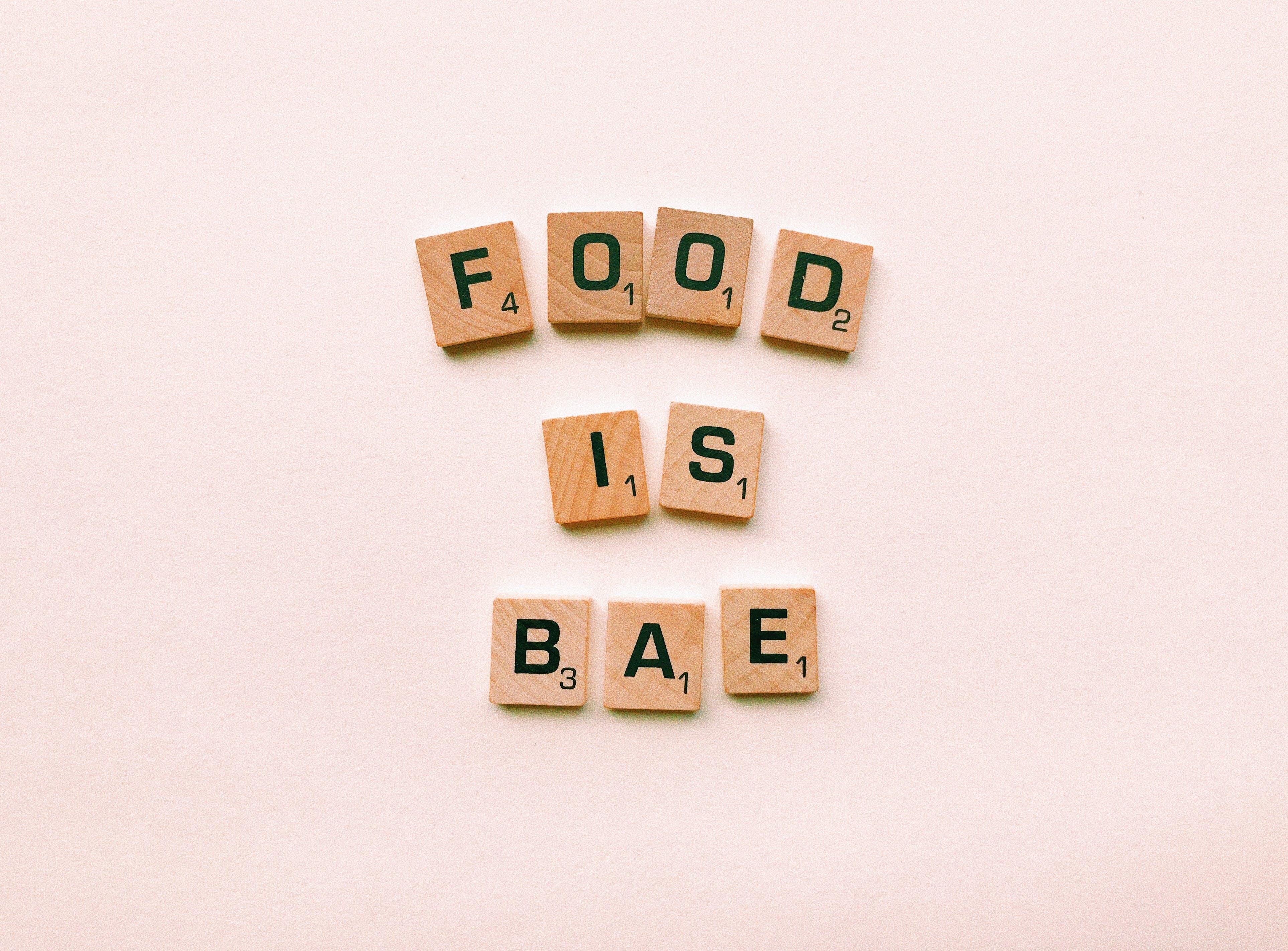 Food Is Bae Wooden Decor