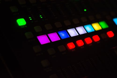 Free stock photo of audio, audio mixer, buttons, live music