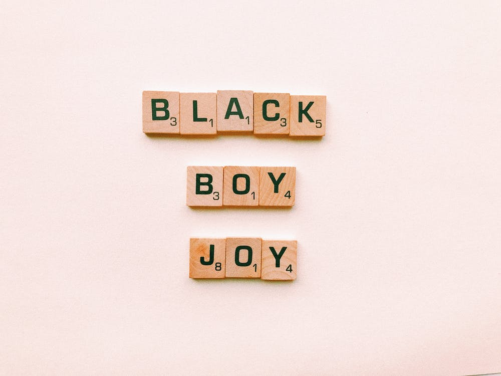 Black Boy Joy Scrabble Tiles
