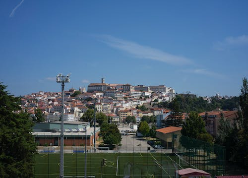 Free stock photo of clear blue sky, coimbra city, town