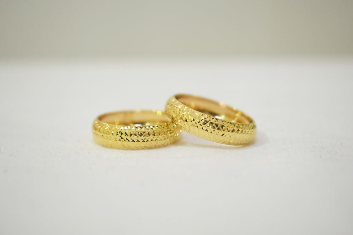 gold rings, ring, wedding ring