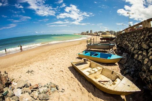 Free stock photo of beach, blue, boats, salvador