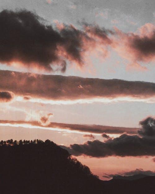 夕方, 夜明け, 天気, 山の無料の写真素材