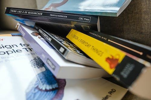 Free stock photo of books, design books, design thinking