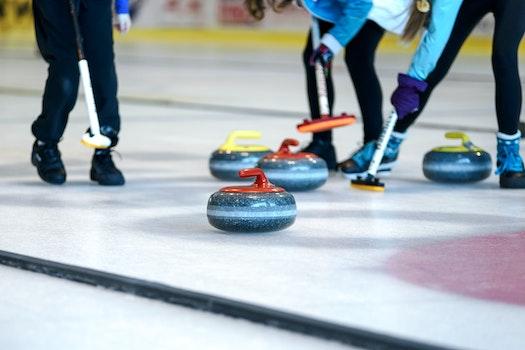 Free stock photo of ice, stones, competition, athlete