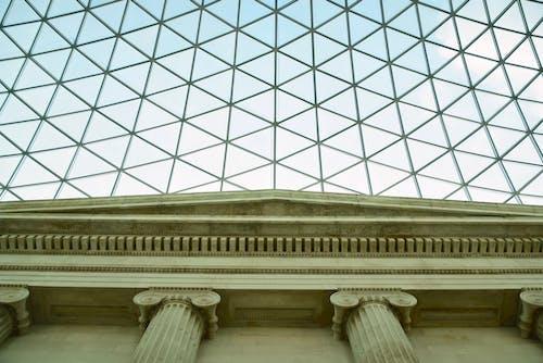 イギリス博物館, コラム, ミニマリズム, ルーフの無料の写真素材