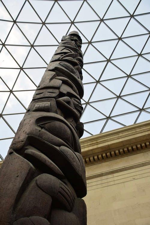 イギリス博物館, トーテムポール, ミニマリズム, ルーフの無料の写真素材