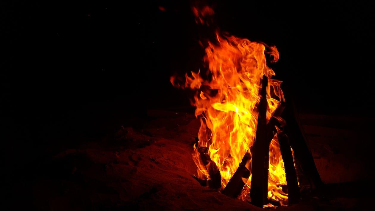 ανάβω φωτιά, γκρο πλαν, ζεστός
