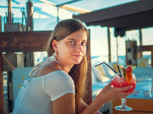 Free stock photo of cocktail, female, summer, vacation