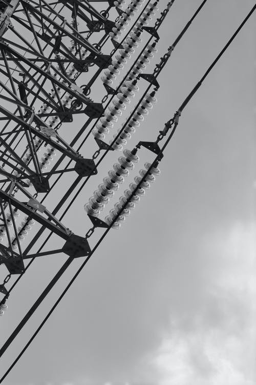 Black and White Electric Tower