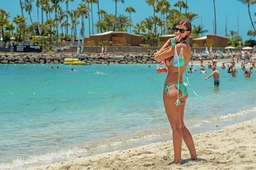 Free stock photo of fashion, beach, vacation, people