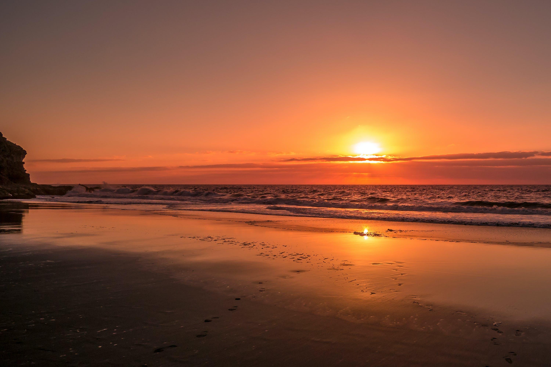 Free stock photo of sunset, beach, vacation, ocean