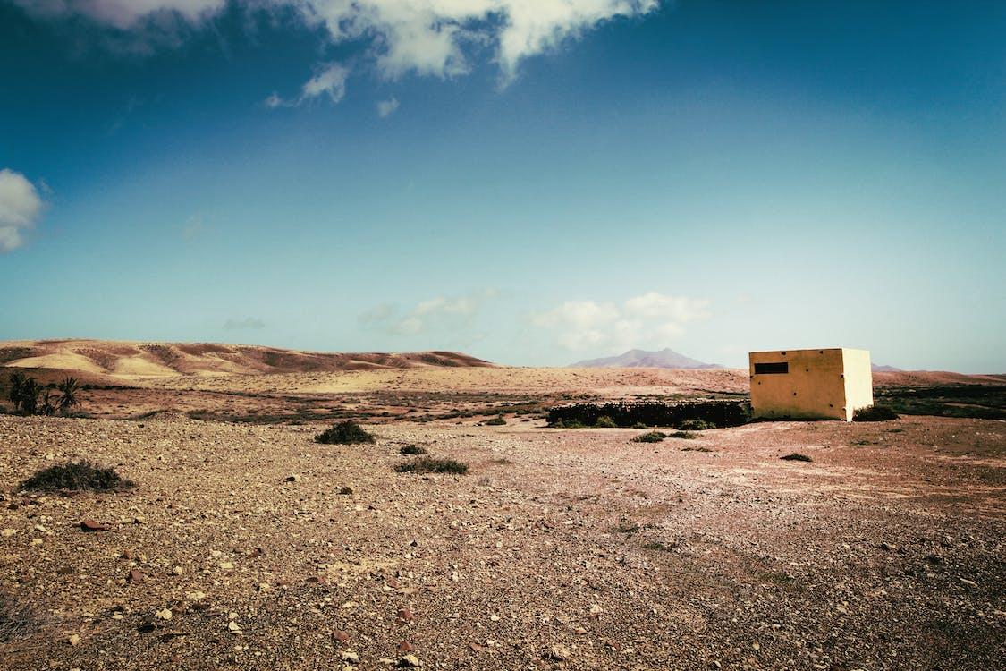 White Concrete Building on Desert