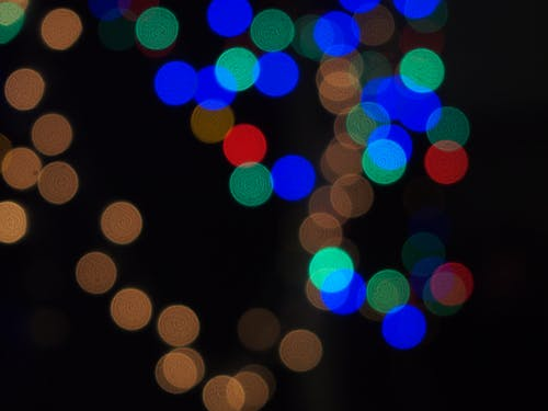 Abstract background with colorful light spots