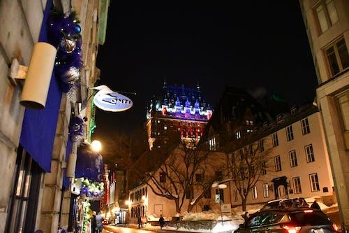 Free stock photo of castle, city lights, illuminated, night