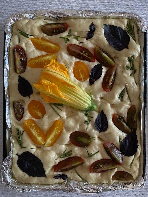 Vegetable Salad on Silver Foil
