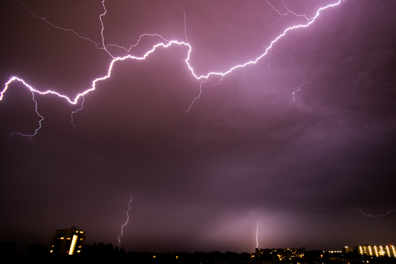 Thunder Struck Across Clouds