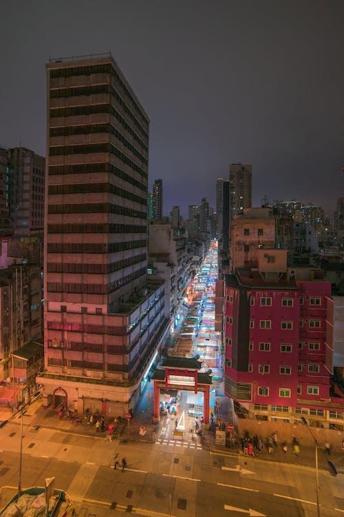 Imagine de stoc gratuită din clădiri, expunere lungă, fotografie de unghi larg, Hong kong