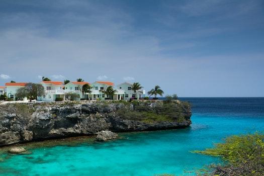 Free stock photo of sea, houses, ocean, buildings