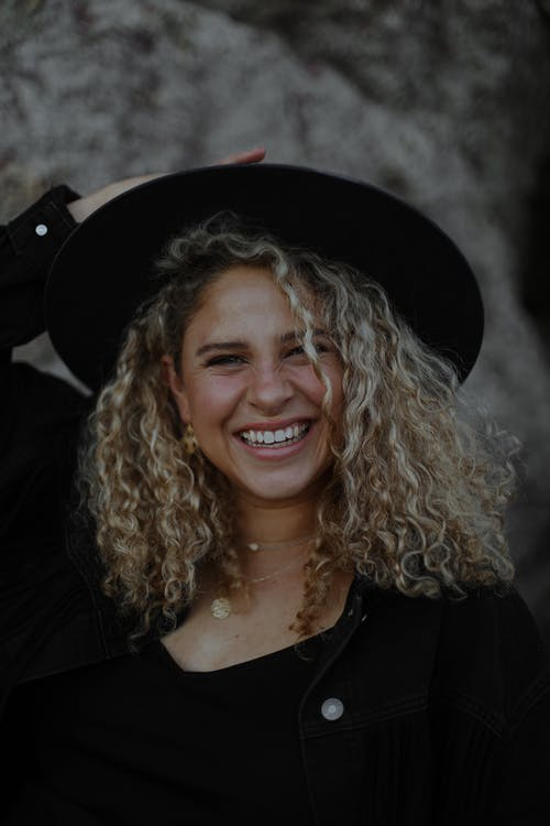Free stock photo of black, blond hair, caucasian woman