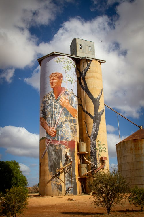 Free stock photo of silo art