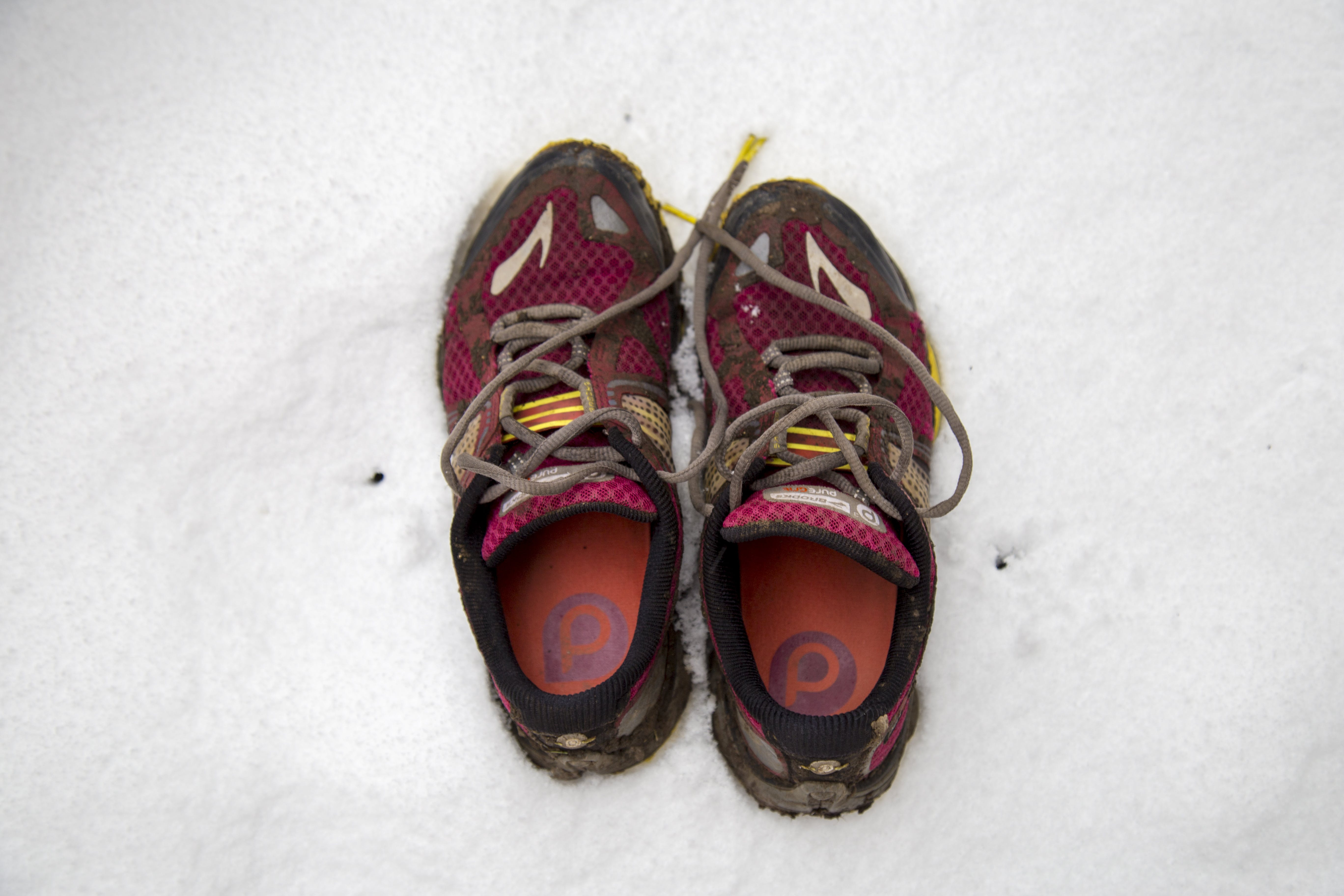 Free stock photo of brooks, brooks trainers, dirty, dirty running shoe