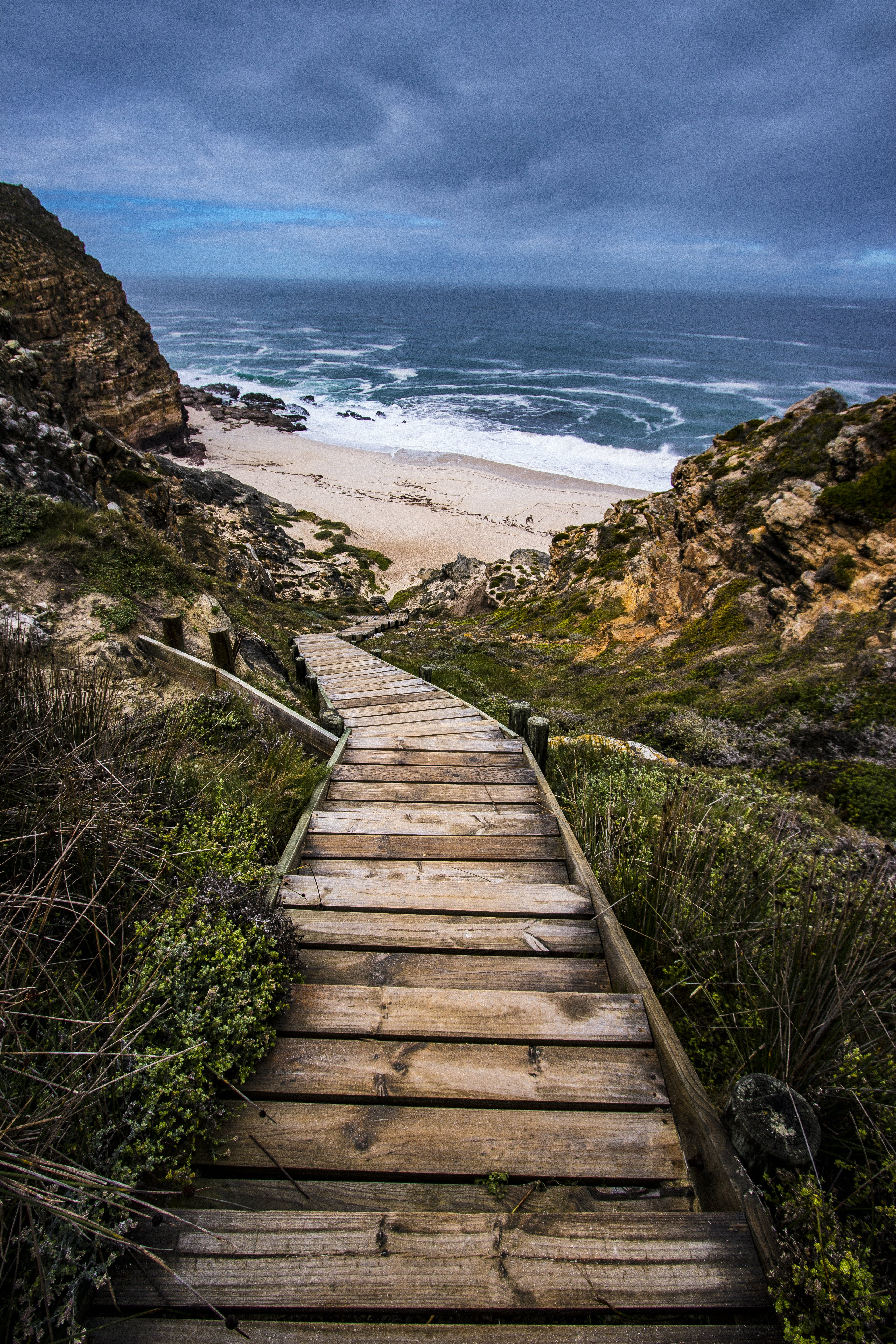 Wooden Stairs to Beach