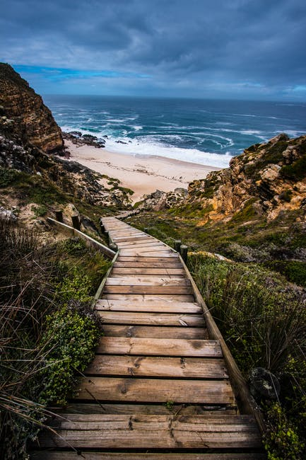 Wooden Stairs To Beach 183 Free Stock Photo