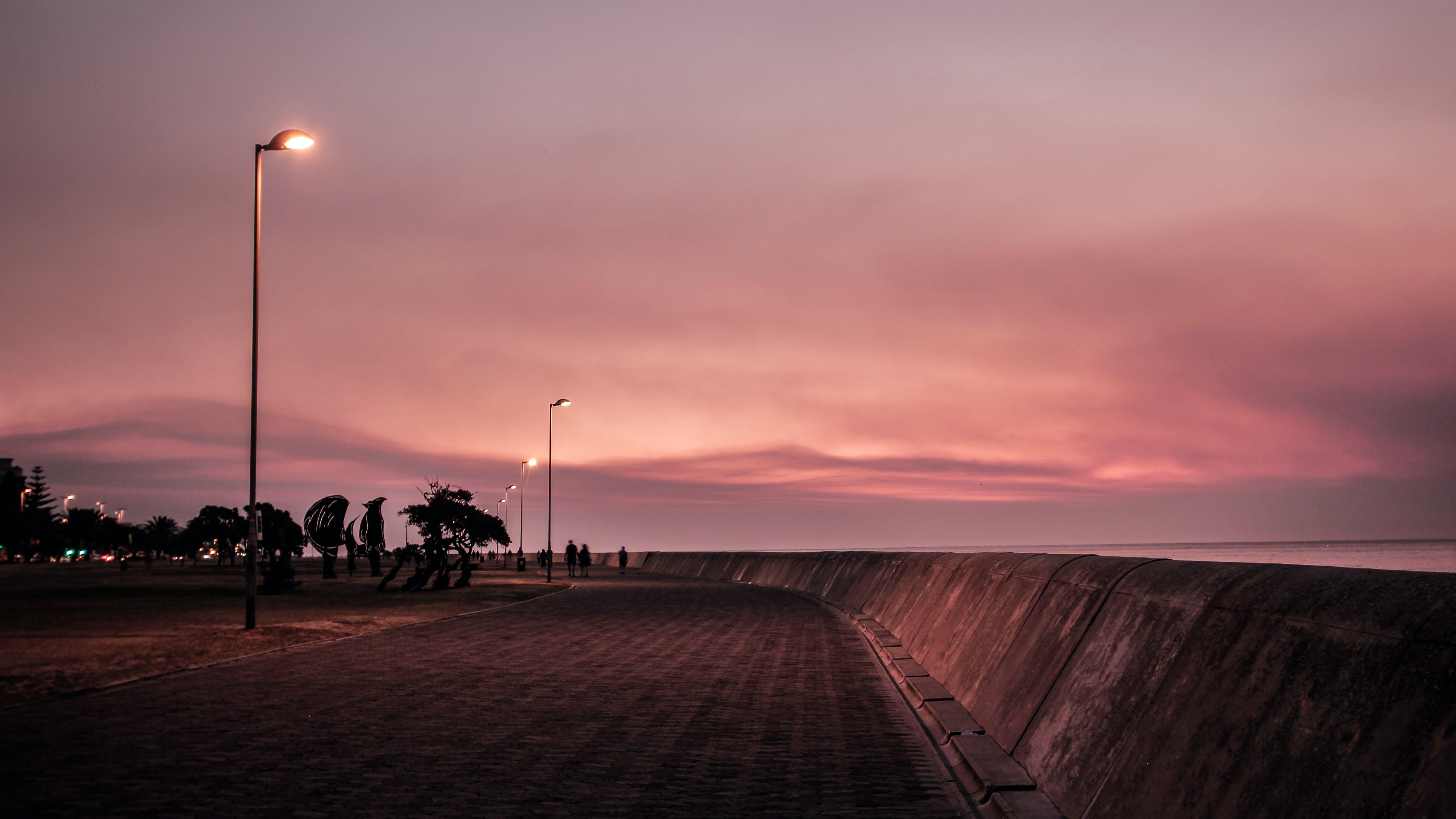Kostnadsfri bild av betong, gyllene timmen, hav, himmel
