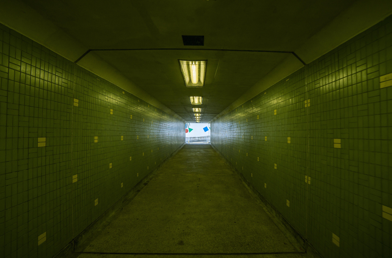 Green Tiled Hallway